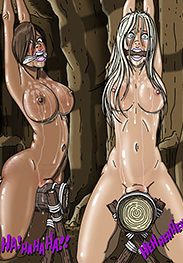 Spanking art - The woods have eyes by Gary Roberts
